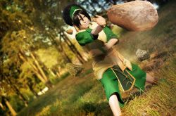 avatar:_the_last_airbender cosplay earth_bending photo_(object) tagme toph_bei_fong toph_bei_fong_(cosplay)