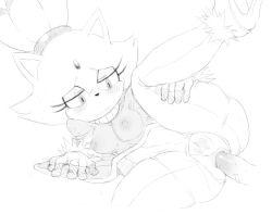 1girl anus ass blaze_the_cat cat feline furry mato_spectoru nervous nude pussy sega sketch sonic_the_hedgehog