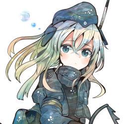 1girl blonde_hair blue_eyes cropped_jacket garrison_cap hat itomugi-kun kantai_collection long_hair long_sleeves military military_uniform puffy_sleeves u-511_(kantai_collection) uniform
