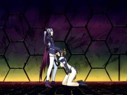 2girls animated animated_gif beat_angel_escalayer fellatio fm77 futa_with_female futanari kiritani_ryouko multiple_girls oral tagme
