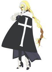 1girl armor bad_id blonde_hair braid cross fate_(series) ruler_(fate/apocrypha) solo