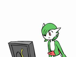 animated animated_gif gardevoir no_humans pokemon simple_background what