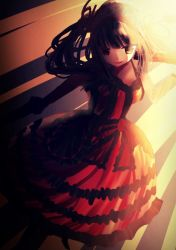 1girl date_a_live dress female frilled_dress frills gothic_lolita lolita_fashion lolita_hairband long_hair tokisaki_kurumi twintails