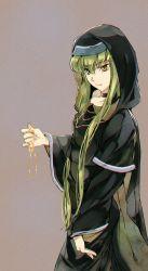 1girl c.c. code_geass dress green_hair long_hair meimi_k yellow_eyes