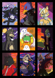 falco_lombardi fox_mccloud furry halloween james_mccloud krystal leon_powalski nintendo panther_caroso peppy_hare slippy_toad star_fox wolf_o'donnell