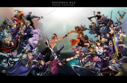 6+boys 6+girls armor battle bow_(weapon) butz_klauser cain_highwind cecil_harvey cefca_palazzo cloud_of_darkness cloud_strife dissidia_012_final_fantasy dissidia_final_fantasy dual_wielding emperor_(ff2) everyone exdeath final_fantasy final_fantasy_i final_fantasy_ii final_fantasy_iii final_fantasy_iv final_fantasy_ix final_fantasy_v final_fantasy_vi final_fantasy_vii final_fantasy_viii final_fantasy_x final_fantasy_xi final_fantasy_xii final_fantasy_xiii frioniel golbeza gun gunblade helmet horned_helmet jecht kuja laguna_loire lightning_farron multiple_boys multiple_girls onion_knight prishe sephiroth shantotto shield squall_leonhart staff sword tidus tifa_lockhart tina_branford trance_tina_branford ultimecia vaan warrior_of_light weapon weapons yuna zidane_tribal