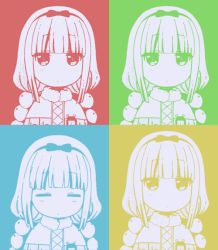 1girl animated animated_gif artist_request bangs blinking blunt_bangs bow eyebrows eyebrows_visible_through_hair hair_beads hair_bow hair_ornament hairband kanna_kamui kobayashi-san_chi_no_maidragon long_hair looking_at_viewer nodding resized twintails upper_body