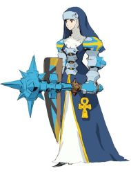 code_of_princess mace nun official_art shield weapon yellow_eyes