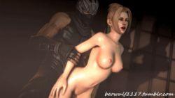 1boy 1girl animated animated_gif breasts clothed_male_nude_female ninja ninja_gaiden rachel_(ninja_gaiden) ryu_hayabusa sex