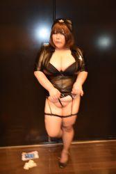 1girl asian blue_eyes breasts brown_hair fat huge_breasts luu_(cosplayer) nurse photo solo