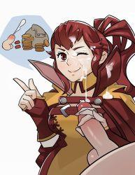 1girl anna_(fire_emblem) cum fire_emblem fire_emblem:_kakusei red_eyes red_hair splashbrush tagme