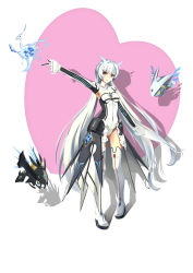 1girl absurdres code:_battle_seraph_(elsword) elsword eve_(elsword) highres long_hair looking_at_viewer silver_hair simple_background solo twintails very_long_hair white_background yellow_eyes
