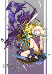 bheth_fleeson commentary_request highres looking_at_viewer original pixiv_fantasia pixiv_fantasia_t realmbw short_hair sword weapon