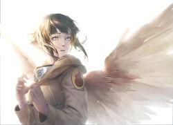 1girl angel_wings baraba_baba black_hair blue_eyes hood hoodie hyuuga_hinata naruto short_hair solo wings