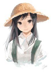 1girl asashio_(kantai_collection) hat kantai_collection straw_hat yae_(mono110)
