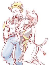 1girl animal_ears chains collar fire_emblem fire_emblem:_kakusei glasses miriel_(fire_emblem) short_hair shougayaki_(kabayaki_3) spiked_hair tail wyck