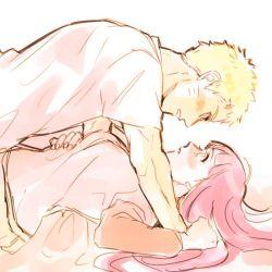 1boy 1girl arico_ks blonde_hair couple facial_mark hetero hyuuga_hinata long_hair naruto purple_hair short_hair uzumaki_naruto