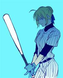 1girl baseball_bat baseball_uniform fate/stay_night fate_(series) j_(onjj) saber solo sportswear