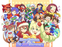 6+boys 6+girls aile amachi_mamoru ashe ashe_(rockman) atlas cancer_bubble capcom christmas drill_hair everyone green_eyes helios_(rockman) hibiki_misora hoshikawa_akane hoshikawa_subaru metool multiple_boys multiple_girls one_eye_closed pandora_(rockman) prometheus prometheus_(rockman) red_eyes rockman rockman_zx ryuusei_no_rockman saishoin_kizamaro shigehiro_(artist) shirogane_luna siarnaq sigehiro_(artist) solo_(ryuusei_no_rockman) thetis ushijima_gonta vent warrock wink