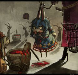 ... 2girls animal_ears belt blood bloomers blue_hair boots bunny bunny_ears bunny_tail cage commentary covering_mouth crescent dress ear_grab eating extra high_heel_boots high_heels kine koto_inari letterboxed lifting_person long_hair mallet mochitsuki moon_rabbit multiple_girls ringo_(touhou) seiran_(touhou) short_sleeves silhouette skull solo_focus spoken_ellipsis star sword tail touhou underwear watatsuki_no_yorihime weapon wide-eyed