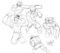 1boy 1girl blush boxing_gloves collage diepod eyebrows height_difference little_mac metroid muscle punch-out!! punching samus_aran sketch super_smash_bros. thick_eyebrows