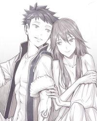 amatari_sukuzakki couple cousins eudes_(fire_emblem) fire_emblem fire_emblem:_kakusei hair_over_breasts incest lucina nude open_shirt