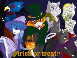 falco_lombardi fox_mccloud furry halloween krystal leon_powalski nintendo panther_caroso star_fox wolf_o'donnell