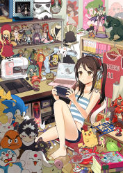 1girl :o alphonse_elric amazon_(company) apron asahina_mikuru azumanga_daiou bare_arms bare_legs bare_shoulders barefoot basketball_uniform bishoujo_senshi_sailor_moon black_hair black_rock_shooter black_rock_shooter_(character) blonde_hair blue_eyes blush book bookshelf brown_eyes brown_hair capcom card_captor_sakura cat chair chestnut_mouth chibi_usa chiyo_chichi clannad company_connection computer crop_top danboo dango_daikazoku doraemon doraemon_(character) dragon_ball dragonball_z evangelion:_2.0_you_can_(not)_advance evangelion:_3.0_you_can_(not)_redo fate/stay_night fate_(series) feet figure final_fantasy fluttershy folding_chair fullmetal_alchemist gamecube giroro godzilla godzilla_(series) goomba green_eyes green_hair guitar gundam gurren-lagann hakurei_reimu hangar hanging haro hatake_kakashi hatsune_miku headphones hiei hirasawa_yui inoue_toro instrument jersey k-on! kamen_rider keroro_gunsou kinomoto_sakura kissai kuroneko_(trigun) lamp laptop leaning_back level-5 link louise_francoise_le_blanc_de_la_valliere luke_triton lum macross macross_frontier magic_knight_rayearth mahou_shoujo_madoka_magica maid_apron mario_(series) meitantei_conan midriff miniskirt mobile_suit_gundam model_kit mokona morrigan_aensland multicolored_hair mutou_yuugi my_little_pony my_little_pony_friendship_is_magic naruto nekobus neon_genesis_evangelion nes nintendo nintendo_64 one_piece otaku otaku_room paint panty_&_stocking_with_garterbelt paper pikachu pink_eyes pink_hair playing playing_games playstation_portable plush pokemon poster_(object) princess_tutu professor_layton ranka_lee rebuild_of_evangelion red_eyes red_hair rozen_maiden saber sailor_moon sewing_machine shadow shinku short_shorts shorts shounen_jump side_ponytail sitting sitting_on_object skirt slam_dunk solo son_gokuu sonic sonic_the_hedgehog soryu_asuka_langley sportswear square_enix star_wars stocking_(psg) stormtrooper striped stuffed_animal stuffed_toy stylus super_mario_bros. suzumiya_haruhi_no_yuuutsu tablet tank_top tengen_toppa_gurren_lagann tetsuwan_atom the_legend_of_zelda tomoe_mami tonari_no_totoro tony_tony_chopper touhou trigun twintails uniform urusei_yatsura vampire_(game) vocaloid wand white_hair yoko_littner yotsubato! yu-gi-oh! yuu_yuu_hakusho zaku zero_no_tsukaima