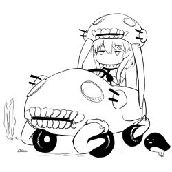 abubu car kantai_collection monochrome motor_vehicle vehicle wo-class_aircraft_carrier
