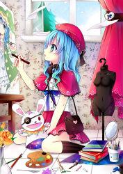 1girl blue_hair date_a_live gyaza yoshino_(date_a_live) yoshinon