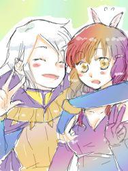 arm_around_shoulder couple fire_emblem fire_emblem:_kakusei henry_(fire_emblem) sumia v