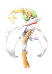 alternate_costume alternate_form gardevoir green_hair mask mega_gardevoir mega_pokemon nintendo no_humans pokemon pokemon_(game) pokemon_oras red_eyes short_hair shorts smile solo wrestler