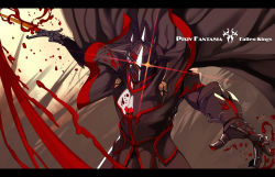 absurdres armor blood breastplate cape gauntlets glowing glowing_eye helmet highres knight pixiv_fantasia pixiv_fantasia_fallen_kings realmbw solo sword weapon