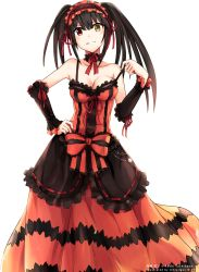 1girl absurdres date_a_live dress extraction highres simple_background solo tokisaki_kurumi transparent_background