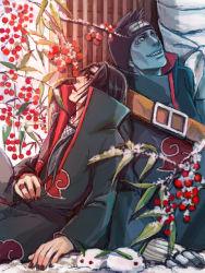 2boys hoshigaki_kisame multiple_boys naruto uchiha_itachi