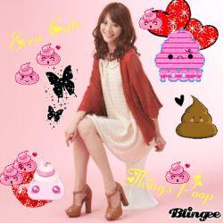 1girl asian japanese photo sitting smile solo