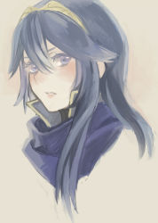 blue_eyes blue_hair blush fire_emblem fire_emblem:_kakusei hairband lips long_hair lucina portrait rokut
