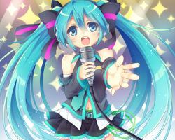 1girl aqua_hair blue_eyes hatsune_miku kiyu_(kiyupapiko) long_hair solo vocaloid