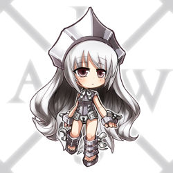 1girl chibi female iron_maiden_jeanne long_hair red_eyes shaman_king very_long_hair x-laws