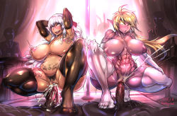 2boys 2girls ahegao areolae artist_name audience blonde_hair blush breasts clitoral_hood clitoris clitoris_ring cum cum_in_pussy curvy dungeon_and_fighter ejaculation elbow_gloves exhibitionism girl_on_top gloves gradient_hair group_sex hairy hetero jewelry large_breasts multiple_boys multiple_girls multiple_penises muscle navel nipple_piercing nipples nude open_mouth orgasm penis pointy_ears puffy_nipples purple_skin pussy red_eyes redchicken saliva sex silver_hair sweat tagme tan_skin tattoo thick_thighs thighhighs tongue uncensored white_hair