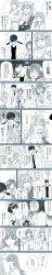 admiral_(kantai_collection) akagi_(kantai_collection) anger_vein comic hatsuyuki_(kantai_collection) hiei_(kantai_collection) highres kantai_collection kirishima_(kantai_collection) long_image nagomi_(mokatitk) ooi_(kantai_collection) shaded_face shiranui_(kantai_collection) suzuya_(kantai_collection) tall_image torn_clothes translation_request