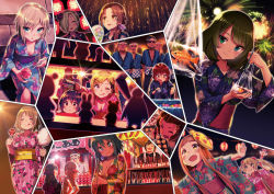 6+girls anastasia_(idolmaster) breasts cleavage festival fujimoto_rina ichihara_nina idolmaster idolmaster_cinderella_girls japanese_clothes kawashima_mizuki kohinata_miho long_hair mimura_kanako multiple_girls murakami_tomoe namba_emi natalia_(idolmaster) pikachu pokemon shirasaka_koume short_hair sonsoso tachibana_arisu takagaki_kaede yokoyama_chika yuuki_haru