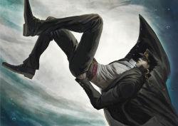 1boy black_hair floating hat highres jojo_no_kimyou_na_bouken kuujou_joutarou long_coat s_a_k_u solo