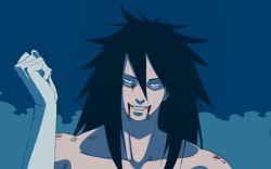 blood god long_hair naruto rinnegan smile uchiha_madara
