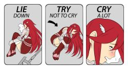 cry crying eyes_closed fire_emblem fire_emblem:_kakusei open_mouth red_hair solo tears tiamo