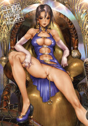 breasts censored jewelry large_breasts lips shirou_masamune spread_legs