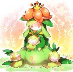 artist_request flower lilligant nintendo petilil pokemon