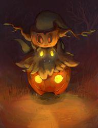 artist_request fangs ghost glowing_eyes halloween nintendo no_humans phantump pokemon pokemon_(game) pokemon_xy pumpkaboo pumpkin red_eyes resized smile tumblr_sample yellow_eyes