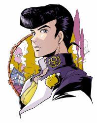 1boy black_hair gakuran higashikata_jousuke jojo_no_kimyou_na_bouken kotokumi_mai pompadour school_uniform solo
