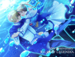 1boy 1girl blonde_hair blue_eyes couple dancing dress eyes_closed fenimore fenimore_xelhes forehead-to-forehead hetero long_hair mochi_(tukimo) smile tales_of_(series) tales_of_legendia twintails walter_(tales) walter_delques